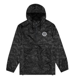 HUF HUF, SPITFIRE PACKABLE ANORAK, BLACK