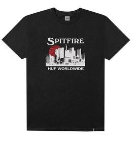 HUF HUF, SPITFIRE SKYLINE S/S TEE, BLACK