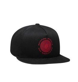 HUF HUF, SPITFIRE SWIRL SNAPBACK HAT, BLACK