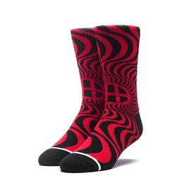 HUF HUF, SPITFIRE SWIRL SOCKS, RED