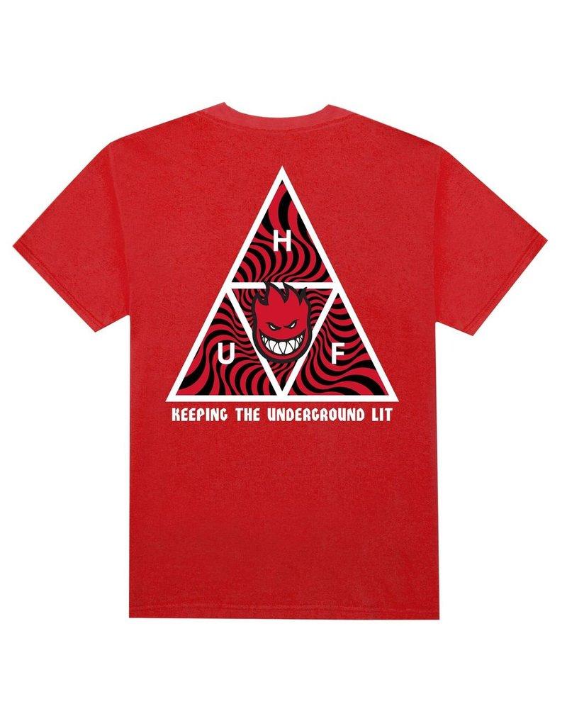 HUF HUF, SPITFIRE TT S/S TEE, RED