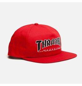 THRASHER THRASHER OUTLINED SNAPBACK RED