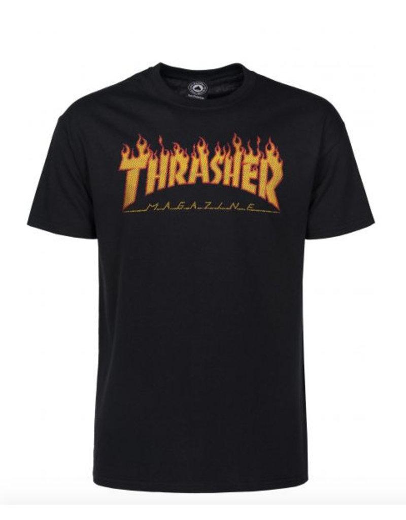 THRASHER THRASHER FLAME HALFTONE S/S TEE