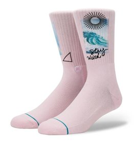 STANCE STANCE, MEN, STAY WEIRD, PINK, L