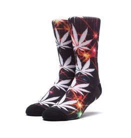 HUF HUF, PLANTLIFE ALL THE LIGHTS SOCKS, BLACK