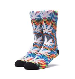 HUF HUF, PLANTLIFE ALL THE LIGHTS SOCKS, BLUE