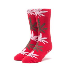 HUF HUF, PLANTLIFE GLOWFLAKE SOCKS, RED