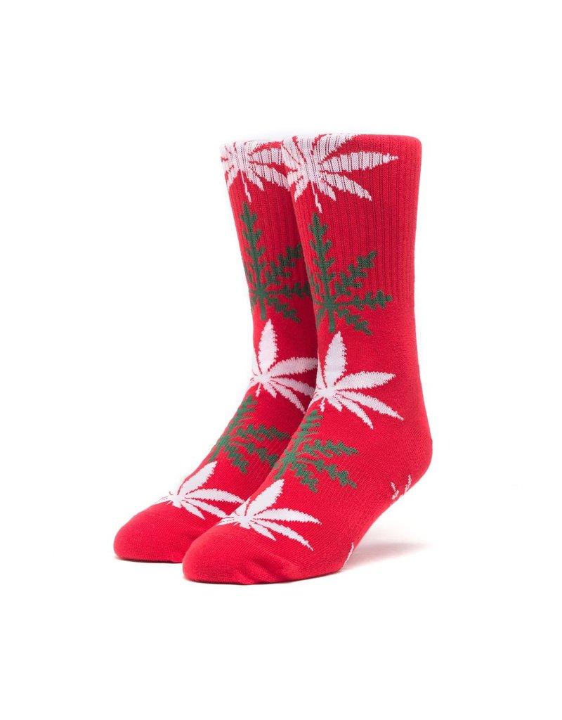 HUF HUF, PLANTLIFE GLOWFLAKE SOCKS, RED