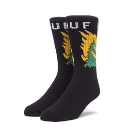 HUF HUF, HOT FIRE SOCKS, BLACK