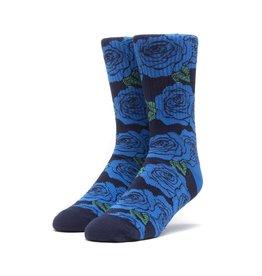 HUF HUF, ROSETTE SOCKS, BLUE