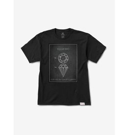 DIAMOND DIAMOND, CUTS TEE, BLACK