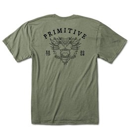 PRIMITIVE PRIMITIVE, GUARDIAN LW TEE, OLIVE HEATHER
