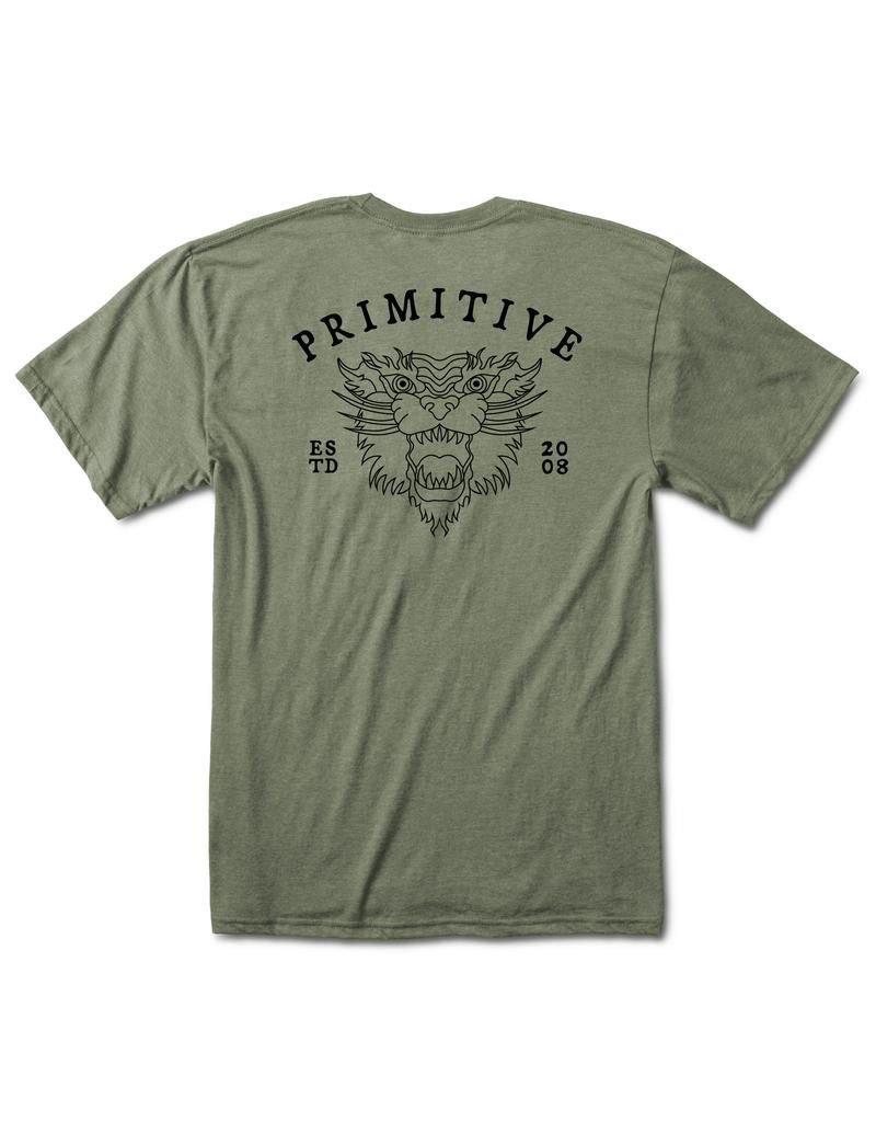 PRIMITIVE PRIMITIVE, GUARDIAN LW TEE, OLIVE HEATHER