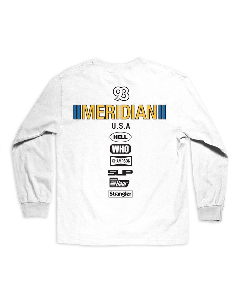 MERIDIAN MERIDIAN, RACE DAY L/S TEE, WHITE