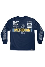 MERIDIAN MERIDIAN, RACE DAY L/S TEE, NAVY BLUE