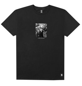 HUF HUF, CROWD S/S TEE, BLACK