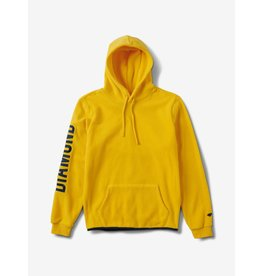 DIAMOND DIAMOND, DIAMOND POLAR FLEECE HOODIE, YELLOW