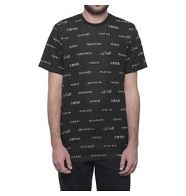 HUF HUF, TRANSLATION S/S KNIT TOP, BLACK