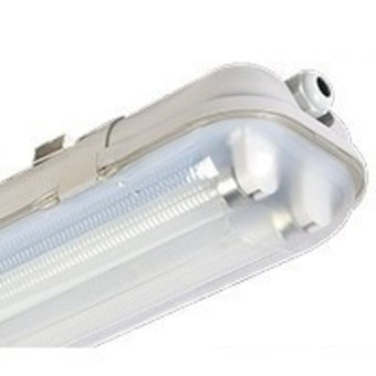 Led Tube Armatuur 60cm, IP65 Waterbestendig (2 Tubes)