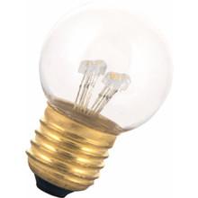E27 0,7w Bol Lamp, 30 Lumen, Transparante Kap