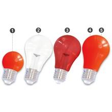 E27 LED Bollamp Rood