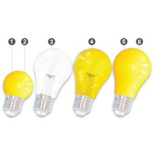 E27 LED Bollamp Geel