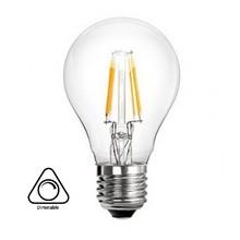 E27 4w Filament Bol Lamp A60, 400 Lumen, Clear, Dimbaar, 2 jaar garantie