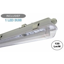 Complete LED TL Armatuur 120cm 18W, 2160LM (High Lumen), IP65, Incl. 1x led buis, 2 Jaar garantie