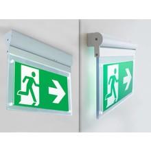 AANBIEDING: LED Noodverlichtingsarmatuur 2w, 240 Lumen, Kantelbaar, Opbouw, Met pijlaanduiding, 3 Jaar garantie