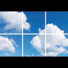 Fotoprint afbeelding Wolken 180x120cm voor 6x 60x60cm led paneel