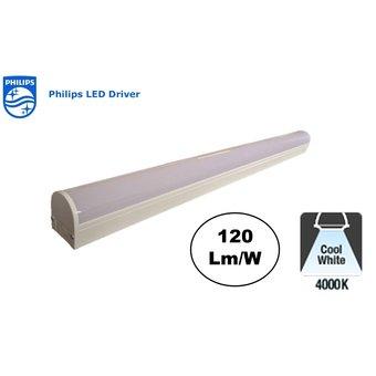 Lightspan LED Batten 150cm, 60w, 7200 Lumen (120lm/w), PHILIPS Driver, 4000K Neutraal Wit, IP20, 3 Jaar garantie