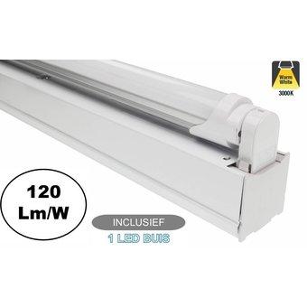 Complete LED TL Montagebalk 120cm, 18W, 2160LM (High Lumen), IP20, Incl. 1x led buis, 2 Jaar garantie