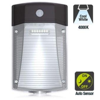 AANBIEDING: LED Wallpack Gecko 30w, 3150 Lumen, 4000K Neutraal Wit, Met Schemersensor, IP65, IK08, 3 Jaar Garantie