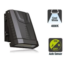 LED Wallpack Carpa 80w, 9840 Lumen, 4000K Neutraal Wit, Met Schemersensor, IP65, IK08, 3 Jaar Garantie