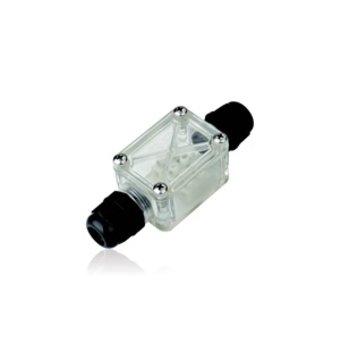 IP67 Lasdoos 2-wegs M20 kabeldoorvoer, IK10 Polycarbonaat