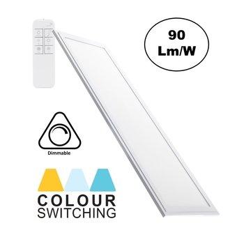 LED Paneel 30x120cm, 40w, 3600 Lumen, CCT Kleurregeling (3000K-6000K), Dimbaar, Wit Frame, 3 Jaar Garantie