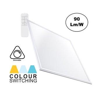 LED Paneel 60x60cm, 40w, 3600 Lumen, CCT Kleurregeling (3000K-6000K), Dimbaar, Wit Frame, 3 Jaar Garantie