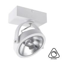Opbouw LED Spot AR111, 15w, 800 Lumen, Dimbaar, Wit Armatuur, 3 Jaar Garantie