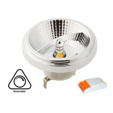 G53 AR111 LED Spot 12w, 700-730 Lumen, 45°, Incl. Led Driver, Dimbaar, 2 Jaar Garantie