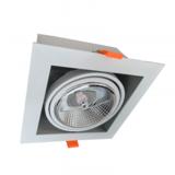 Inbouw Spot Armatuur AR111, gatmaat 160x160mm, Wit/Wit , Met 1x GU10 Fitting