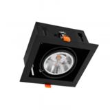 Inbouw Spot Armatuur AR111, gatmaat 160x160mm, Zwart/Zwart , Met 1x GU10 Fitting