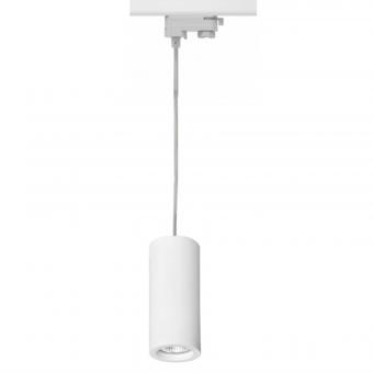 3 Fase Rail Hanglamp Wit, Kabellengte 150cm, Met GU10 Fitting