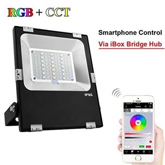Mi-Light Floodlight 20w RGB + CCT, Wifi/RF, 1500 Lumen, IP65, 2 Jaar Garantie