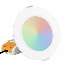 MiBoxer LED Downlighter 6w RGB + CCT, Wifi/RF, 550 Lumen, Gatmaat 95mm, 2 Jaar Garantie