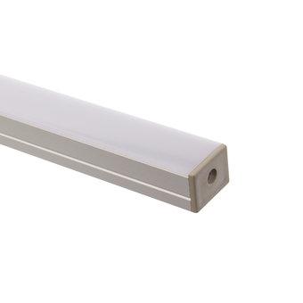 Aluminium Profiel met Milky deksel  voor Eénkleurig Led slang 220v   Lengte: 1 Meter