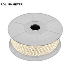 LED Lichtslang 3000K Warm Wit, Rol: 50 Meter, 10w/m, 60 leds/m, 840lm/m, IP65, 230V, 2 Jaar Garantie