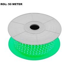LED Lichtslang Groen, Rol: 50 Meter, 10w/m, 60 leds/m, 570lm/m, IP65, 230V, 2 Jaar Garantie