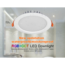 Mi-Light LED Downlighter 15w RGB + CCT, Wifi/RF, 1200 Lumen, IP54, Gatmaat 175mm, 2 Jaar Garantie
