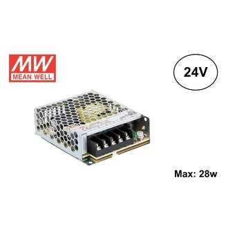 MeanWell Led Strip voeding 24V/35W/1,5A, Max: 28w, 2 Jaar Garantie