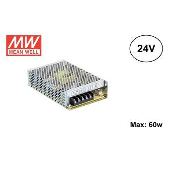 MeanWell Led Strip voeding 24V/75W/3A, Max: 60w, 2 Jaar Garantie